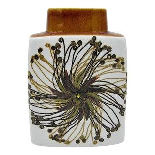Midcentury Glazed Faience Vase by Ellen Malmer for Royal Copenhagen For Sale
