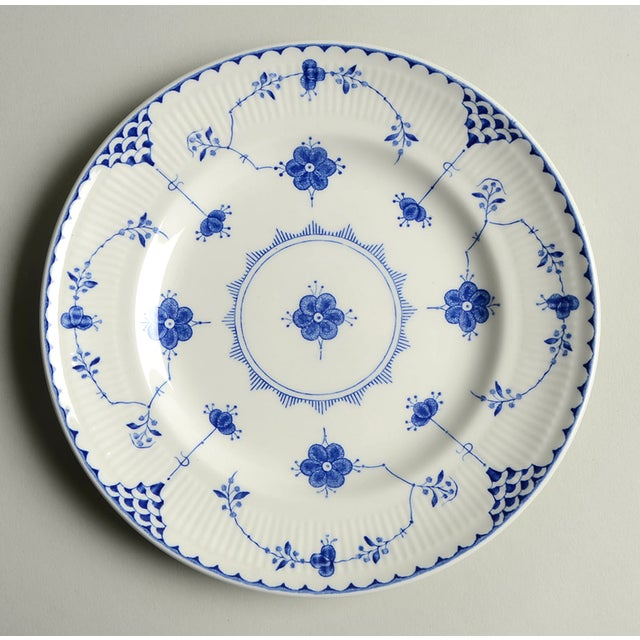 Johnson Brothers Denmark Blue Salad Plate Set/4 features a blue on white flower and accent line design. Reminiscent of...