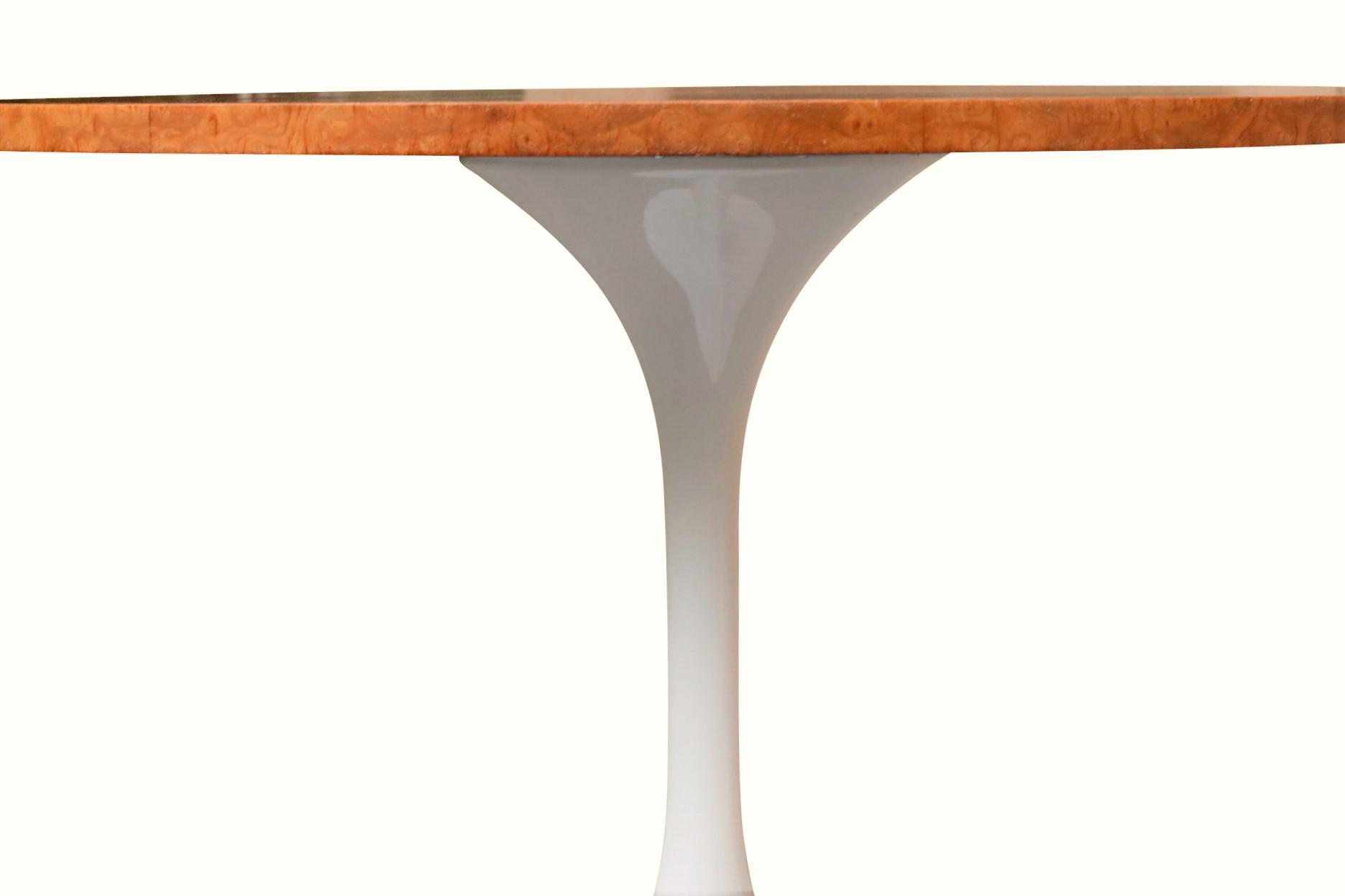 Eero Saarinen Eero Saarinen Style Mid Century Modern Tulip Base Dining Table  For Sale   Image