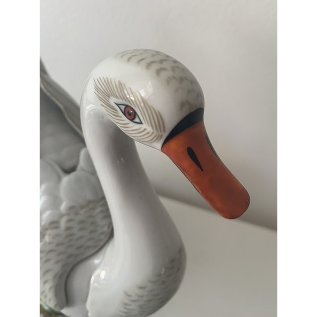 White Mid 20th Century Sevres Porcelain Swans - a Pair For Sale - Image 8 of 12