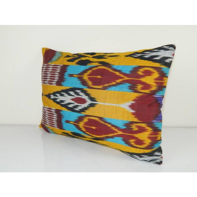 Boho Chic Vintage Ikat Colourful Pillow For Sale - Image 3 of 6