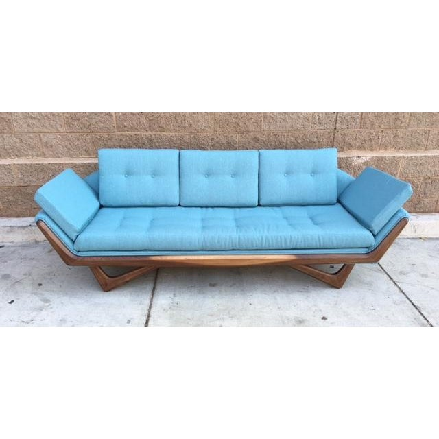 Mid-Century Sculptural Sofa in Powder Blue - Image 2 of 6