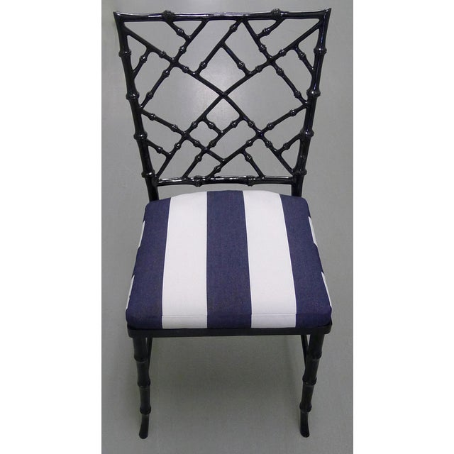 Kessler Black Bamboo-Style Dining Chairs - Set of 6 - Image 3 of 7