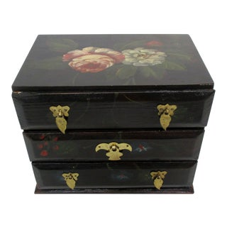Handmade Wood Jewelry Box For Sale