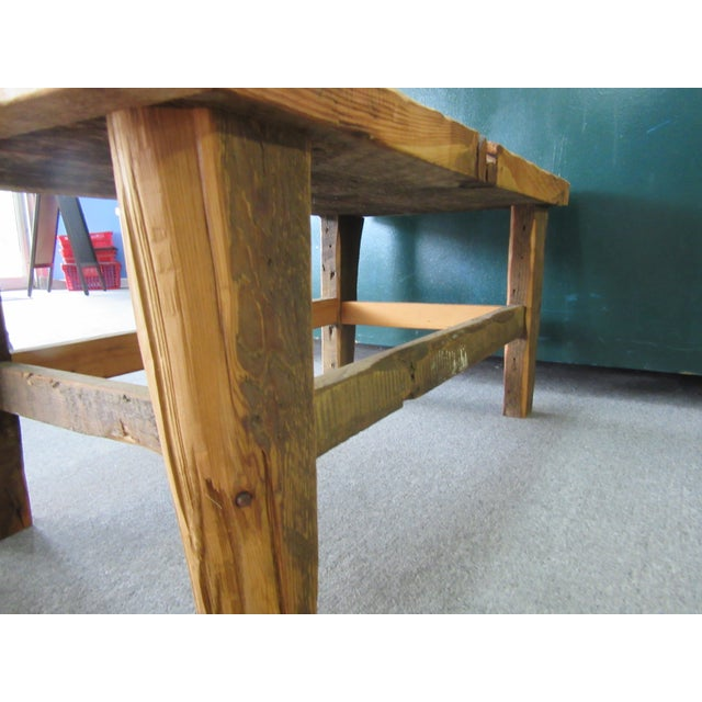 Rustic Reclaimed Pine Peg-Jointed Coffee Table - Image 7 of 11