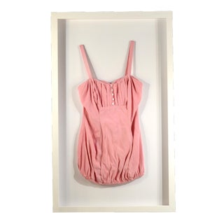 Framed Vintage Pink Swim Suit For Sale