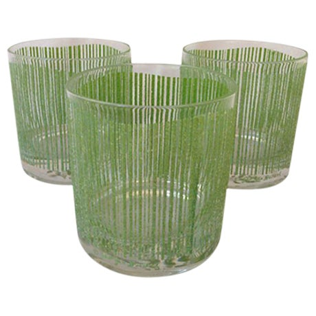 Georges Briard Vintage Bar Glasses - Set of 3 For Sale