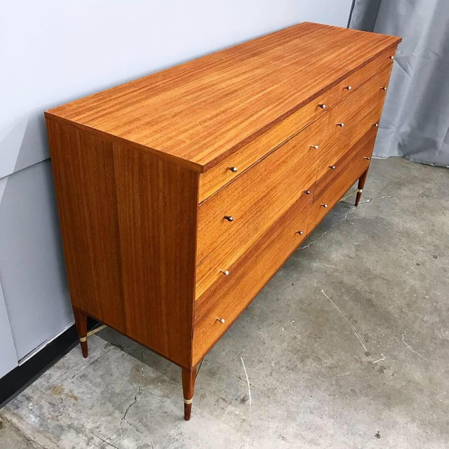 1950s Newly Refinished 8 Drawer Mahogany Dresser by Paul McCobb for Calvin For Sale - Image 5 of 12