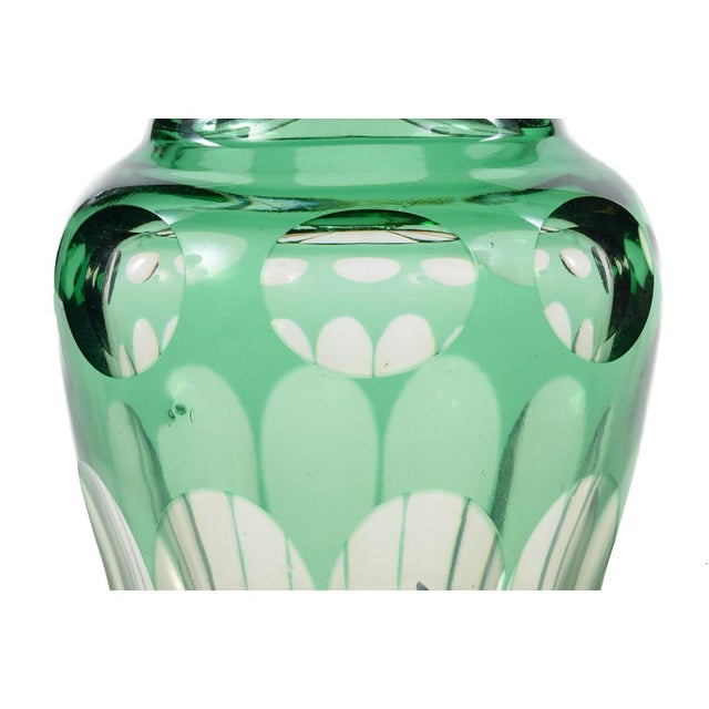 Bohemian Green Glass Decanters - A Pair - Image 7 of 8
