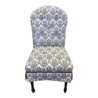 Custom Charles Stewart + Madeline Weinrib Fabric Side Chair For Sale