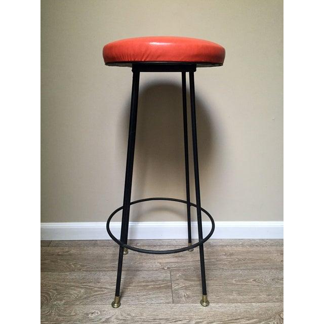 Orange Retro Stiletto Bar Stools - Set of 4 - Image 10 of 10