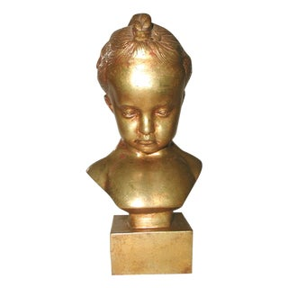 Italian Gilt Sculpture of a Child For Sale