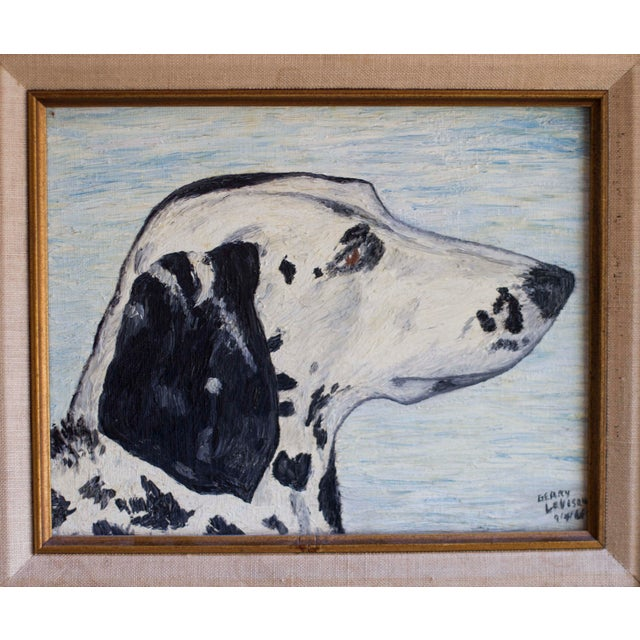 1966 Vintage Dalmatian Oil Painting - Image 3 of 8