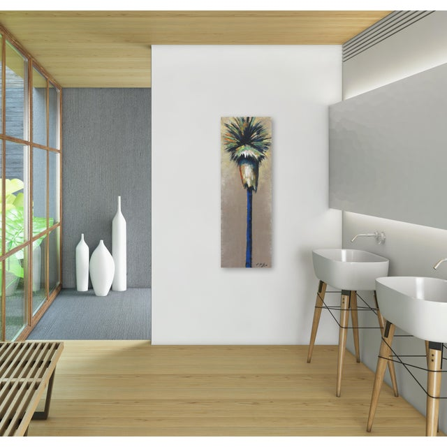 "Brown ""Dancing Light in April Palm"" Original Artwork by Kathleen Keifer For Sale - Image 8 of 8"