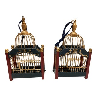 Birdcages Ornaments - A Pair