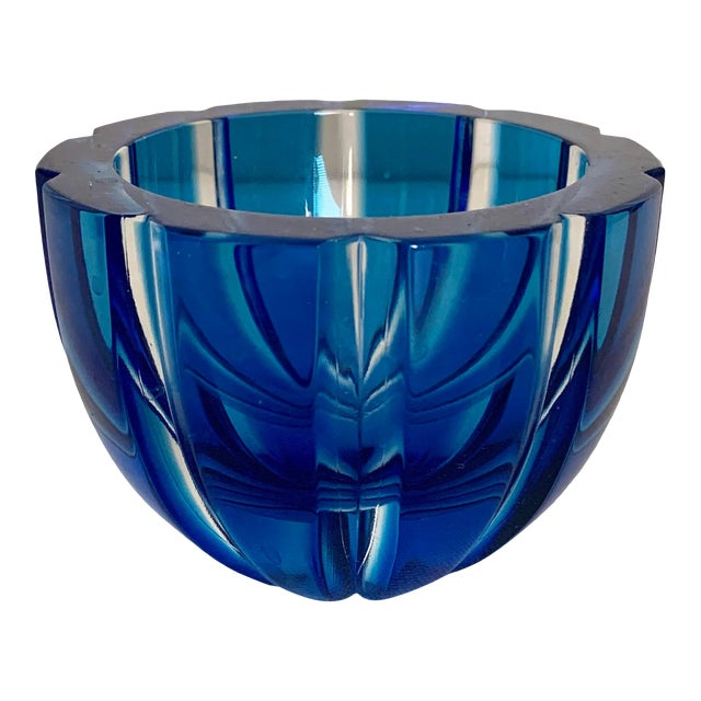 Faberge Alexandra Modern Turquoise Crystal Votive For Sale