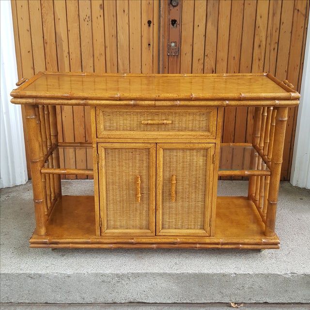 American of Martinsville Faux Bamboo Server - Image 2 of 10