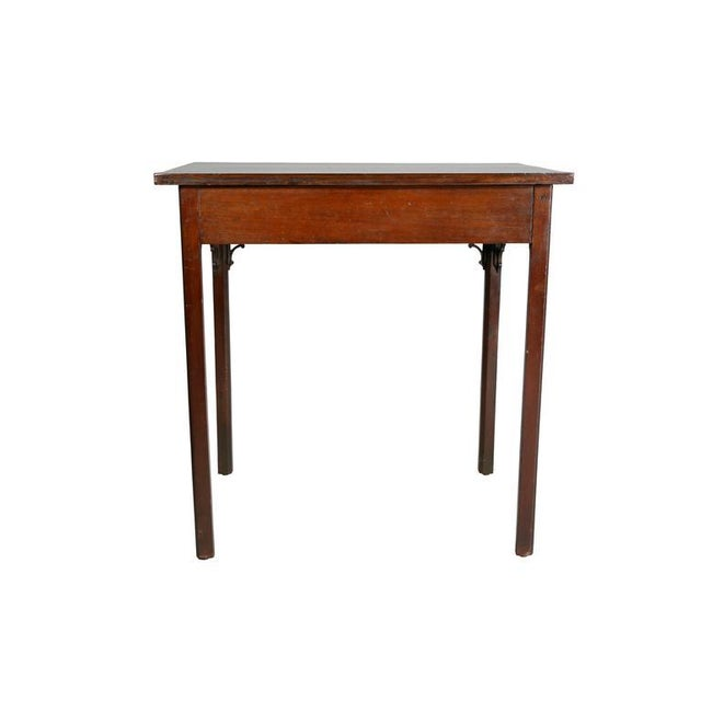 Brown George III Mahogany Side Table For Sale - Image 8 of 9