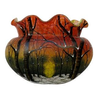 Antique Daum Nancy Glass Vase For Sale