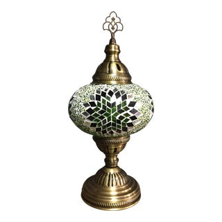 Turkish Mosaic Handmade Decorative Table Lamp For Sale