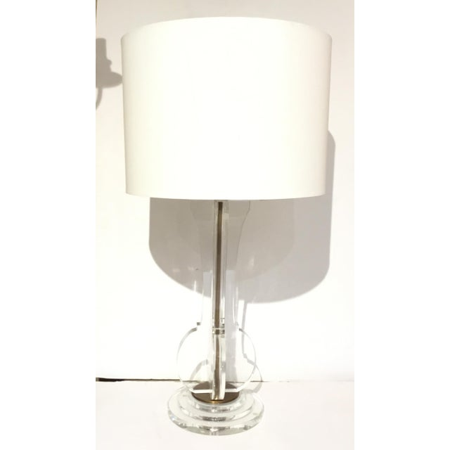 Currey & Co. Modern Optic Crystal Table Lamp For Sale In Atlanta - Image 6 of 6