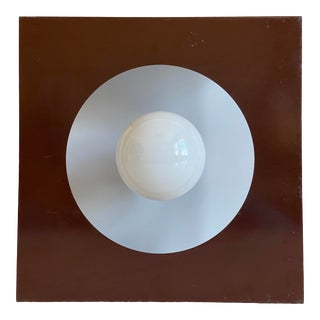 1970s Geometric Steel Light For Sale