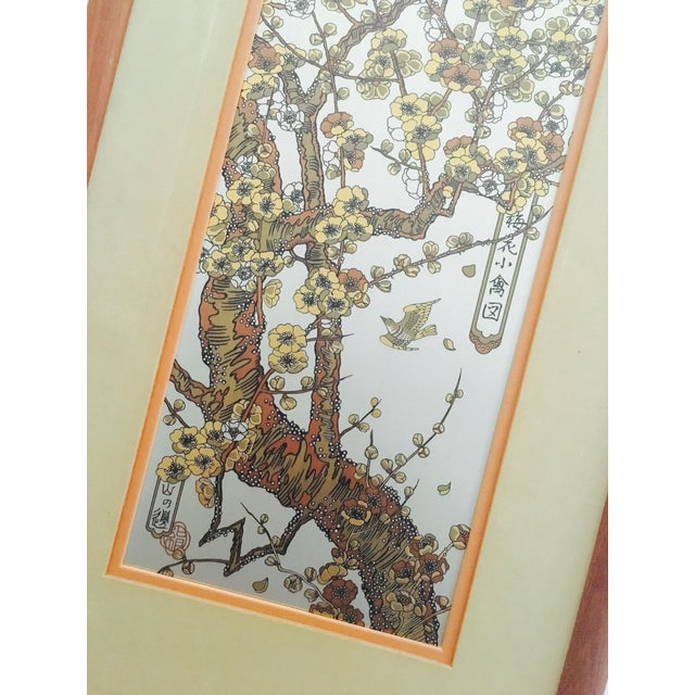 Vintage Japanese Silver Etching Wall Art For Sale - Image 5 of 6