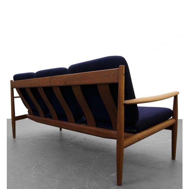 France & Son Solid Danish Teak Slat-Back Sofa by Grete Jalk for France & Son For Sale - Image 4 of 9