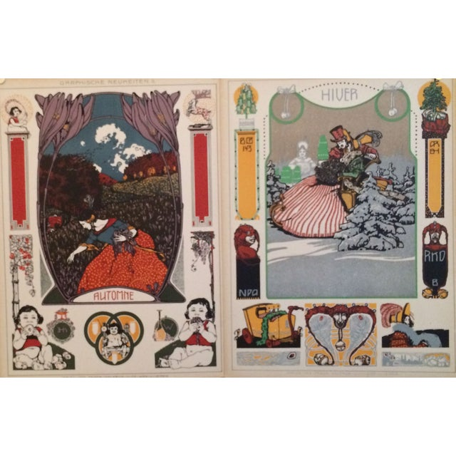 German Decorator Prints C1900 - Fall/Winter S/2 For Sale - Image 4 of 4