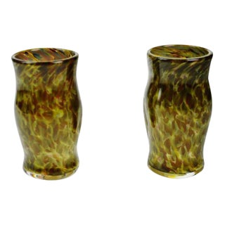Hand-Blown Art Glass Vessels - A Pair