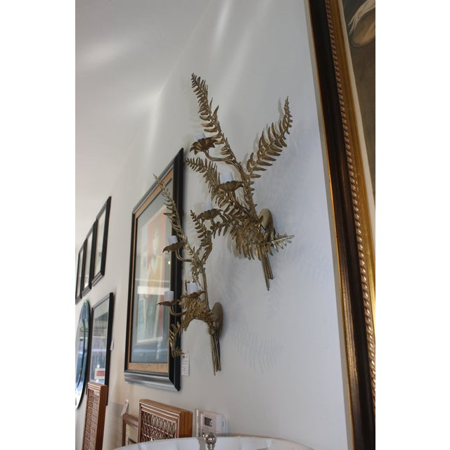 Mid-Century Sconces Fern Motif - a Set of 2 For Sale - Image 11 of 13