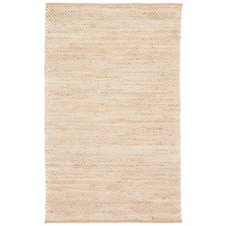 Jaipur Living Diagonal Weave Natural Solid Beige/ White Area Rug - 2′6″ × 4′ For Sale