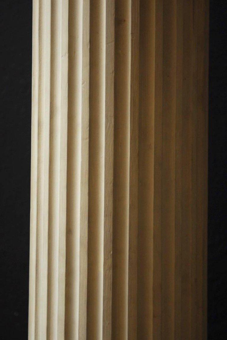 Pair Of Neoclassical Fluted Wood Columns   Image 4 Of 11