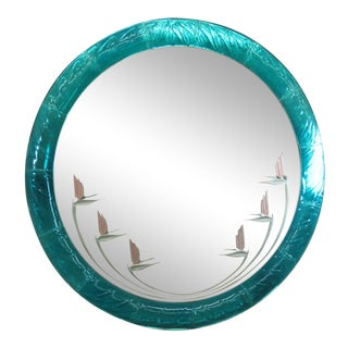 Art Deco Blue Mirror