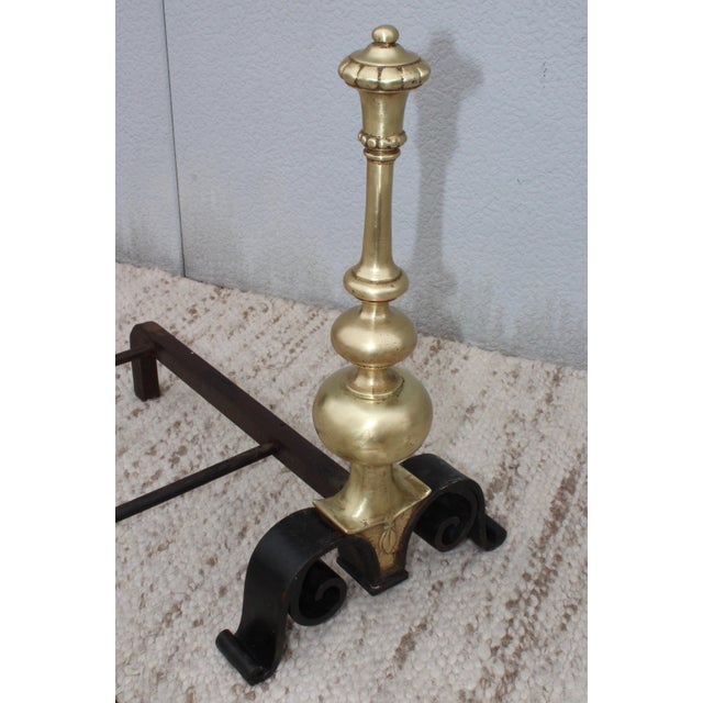 1930s Bronze Andirons For Sale - Image 4 of 13