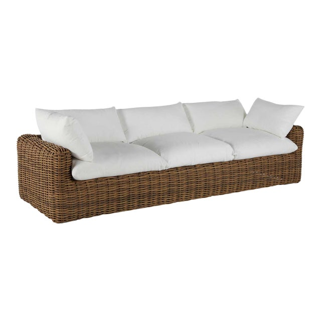 Summer Classics Montecito Sofa in Linen Snow For Sale
