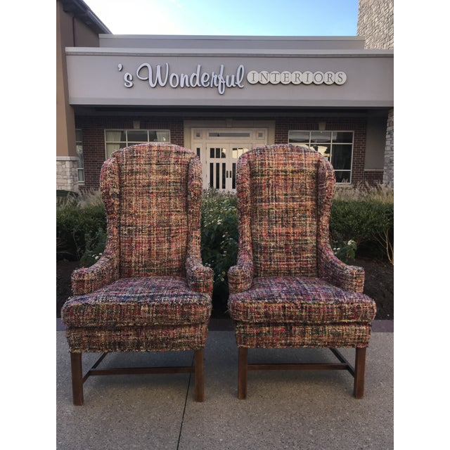 Vintage Wing Back Host Dining Chairs- a Pair For Sale - Image 10 of 10