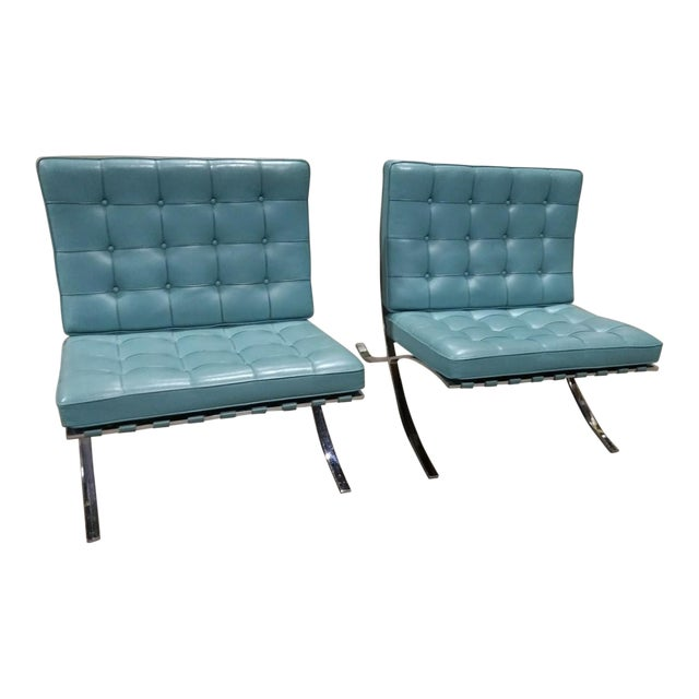 Barcelona Lounge Chairs - a Pair For Sale
