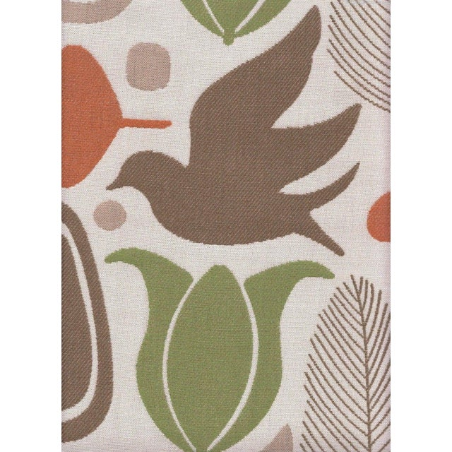 Beacon Hill Tangerine Finmark Fabric - 3.625 Yards For Sale