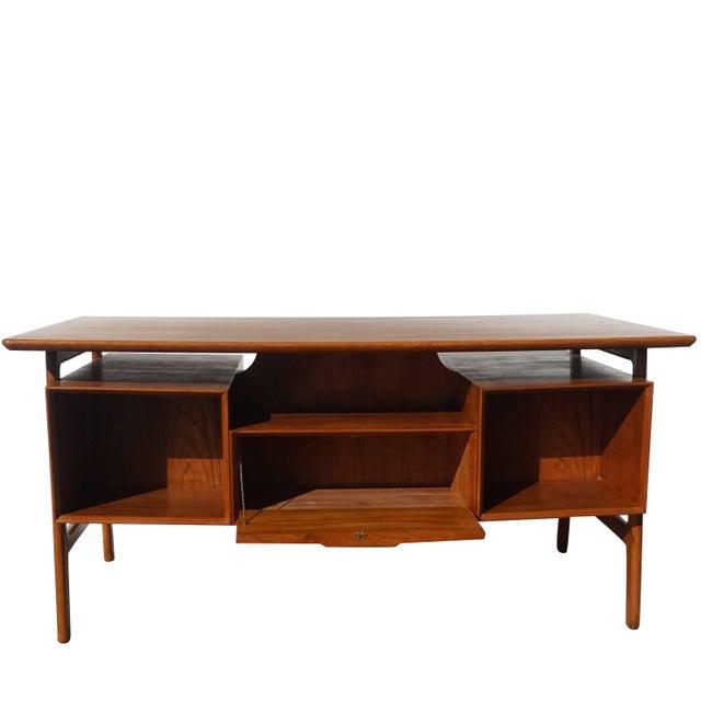 Beech 20th Century Scandinavian Gunni Omann Writing Desk For Sale - Image 7 of 9