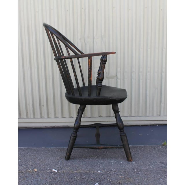 18th Century Original Painted and Signed New England Windsor Armchair - Image 6 of 10