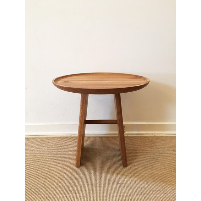 Contemporary White Oak Side Table - Image 3 of 5