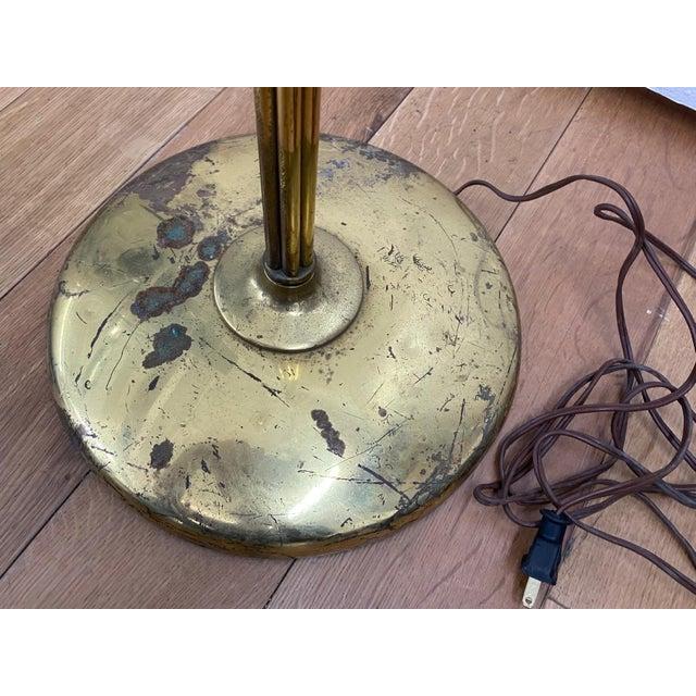 Brass 1970s Five-Globe Undulating Brass Floor Lamp For Sale - Image 8 of 12