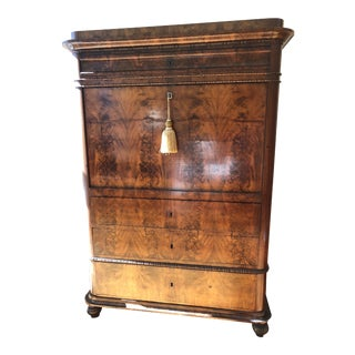 French Victorian Cherrywood Secretary Desk For Sale