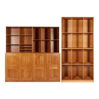 Rare Modular Bookcase and Cabinets by Mogens Koch For Sale