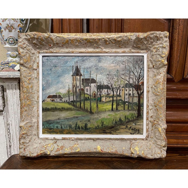Early 20th Century French Oil on Canvas Painting Signed P. Farge For Sale - Image 13 of 13