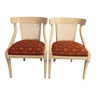 Mid-Century Modern White Lacquer Chairs - a Pair For Sale