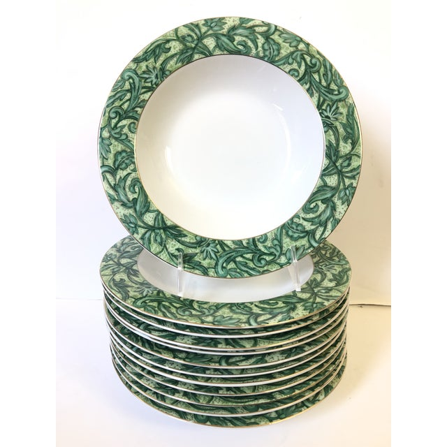 Ceramic American Atelier A Cappella Green Soup Bowls - Set of 12 For Sale - Image 7 of 7