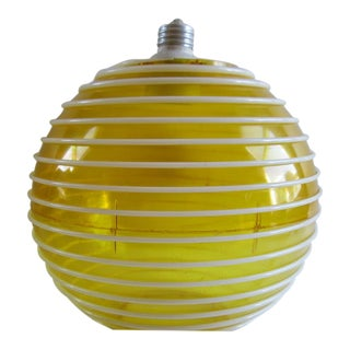 Vintage Yellow Beehive Bakeware Round Lamp Light Fixture Shade For Sale
