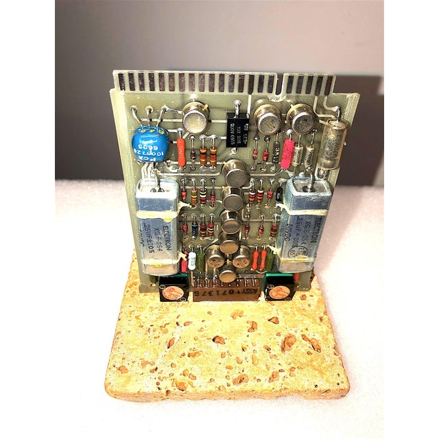 Mid-Century, Vintage Television Circuit Board Sculpture by Bill Reiter For Sale - Image 10 of 10